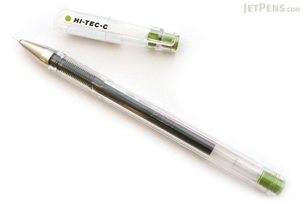 Pilot Hi-Tec-C Gel Ink Pen - 0.4 mm - Olive - PILOT LH-20C4-OL