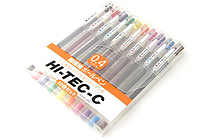 Pilot Hi-Tec-C Gel Ink Pen - 0.4 mm - 10 Pen Gift Set - PILOT LH-200C4-10C