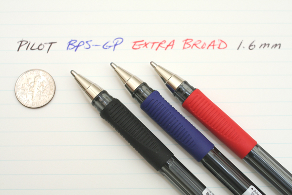 Pilot BPS-GP Extra Broad Ballpoint Pen - 1.6 mm - Black - PILOT BPS-GP-XB-B