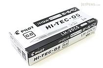 Pilot Hi-Tec-C Gel Pen - 0.5 mm - Black - 10 Pen Set - PILOT LH-20C5-B BOX