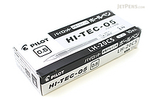 Pilot Hi-Tec-C Gel Pen - 0.5 mm - Black - 10 Pen Set - PILOT LH-20C5-B BOX