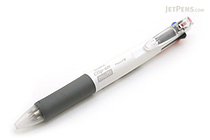 Zebra Clip-On 4 Color 0.7 mm Ballpoint Multi Pen + 0.5 mm Pencil - White Body - ZEBRA B4SA1-W