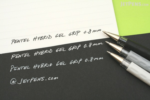 Pentel Hybrid Gel Grip Gel Pen - 0.8 mm - White - PENTEL K118-LW