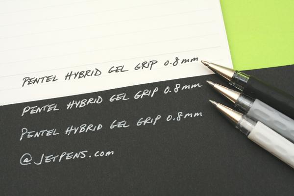 Pentel Hybrid Gel Grip Gel Pen - 0.8 mm - Black - PENTEL K118-AO