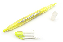 Pilot Spotliter 2 Double-Sided Highlighter Pen - Broad / Fine Twin Tip - Yellow - PILOT SGFR-10SL-Y