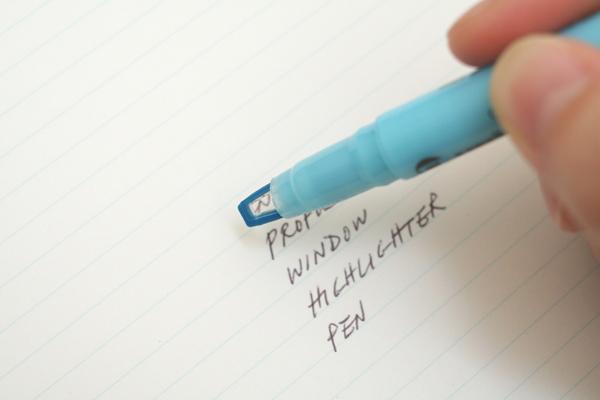 Uni Propus Window Double-Sided Highlighter - 4.0 mm / 0.6 mm - Blue - UNI PUS102T.48