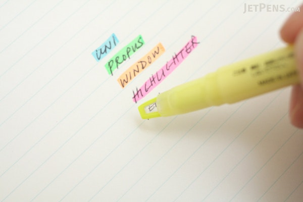 Uni Propus Window Double-Sided Highlighter - 4.0 mm / 0.6 mm - Yellow - UNI PUS102T.2