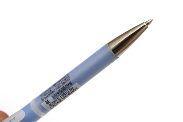 Zebra Espina Pearly Rubber Ballpoint Pen - 0.7 mm - Blue Grip - Blue Ink - ZEBRA BA3-BL
