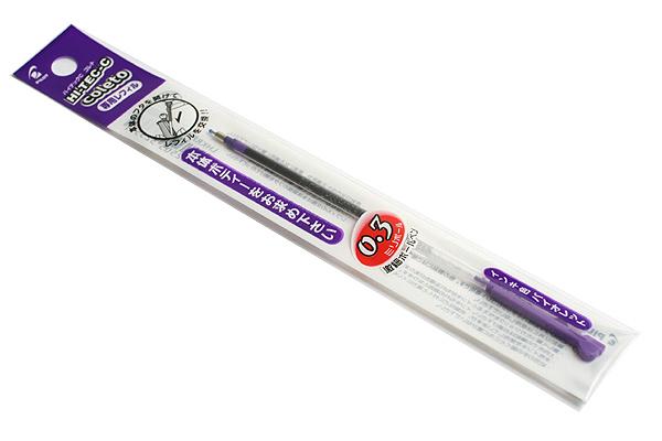 Pilot Hi-Tec-C Coleto Gel Multi Pen Refill - 0.3 mm - Violet - PILOT LHKRF-10C3-V