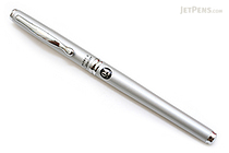 Pilot Hi-Tec-C Cavalier Executive Gel Ink Pen - 0.4 mm - Silver Body - Black Ink - PILOT LCA-1SRC4-S