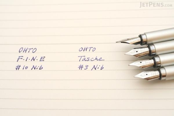 Ohto Tasche Fountain Pen - Silver - Fine Nib - OHTO FF-10T SILVER