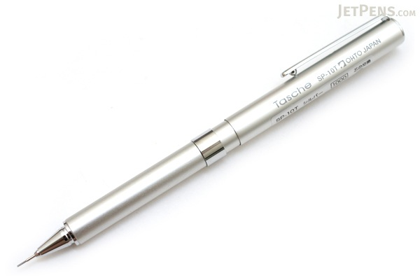 Ohto Tasche Mechanical Pencil - 0.5 mm - Silver Body - OHTO SP-10T SILVER