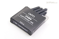 Ohto Fountain Pen Refill Cartridge - Black - Set of 6 - OHTO FCR-6 BLACK