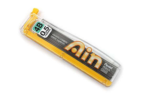 Pentel Hi-Polymer Ain Pencil Lead - 0.5 mm - 4B - PENTEL C255-4B