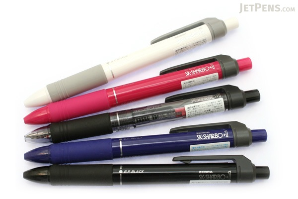 Zebra SK-Sharbo+1 2 Color 0.7 mm Ballpoint Multi Pen + 0.5 mm Pencil - Black - ZEBRA SB5-BK