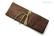 PlePle Choco Wrap Pencil Case - Almond Beige Color Tie - PLEPLE CHOCO ALMOND