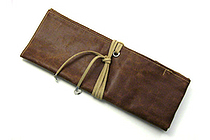PlePle Choco Wrap Pencil Case - Almond Beige Color Tie - PLEPLE CHOCO ALMOND