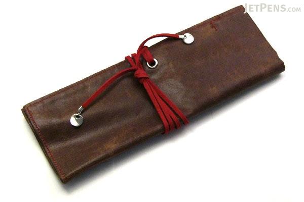 PlePle Choco Wrap Pencil Case - Strawberry Pink Color Tie - PLEPLE CHOCO STRAWBERRY
