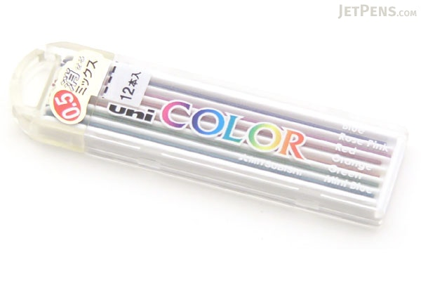 Uni Color Pencil Lead Variety Pack - 0.5 mm - UNI 0.5-255C MIX