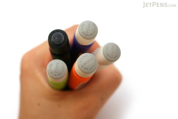 Zebra Penpod Mini Keychain Ballpoint Pen - 0.7 mm - Black Body - Blue Ink - ZEBRA BA17-BK