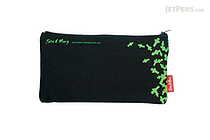 Sura John & Mary Pencil Pouch - Large - Green on Black - SURA PBS912D