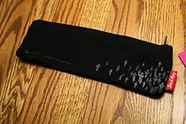 Sura John & Mary Pencil Pouch - Small - Grey on Black - SURA PBS912G