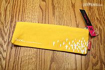 Sura John & Mary Pencil Pouch - Small - White on Yellow - SURA PBS912S