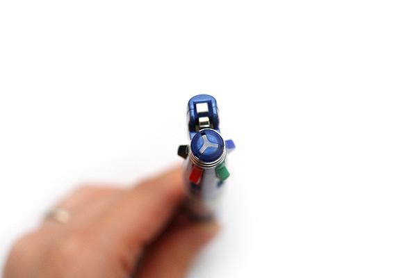 Zebra Clip-On 1000 4 Color 0.7 mm Ballpoint Multi Pen + 0.5 mm Pencil - Blue Body - ZEBRA B4SA2-BL