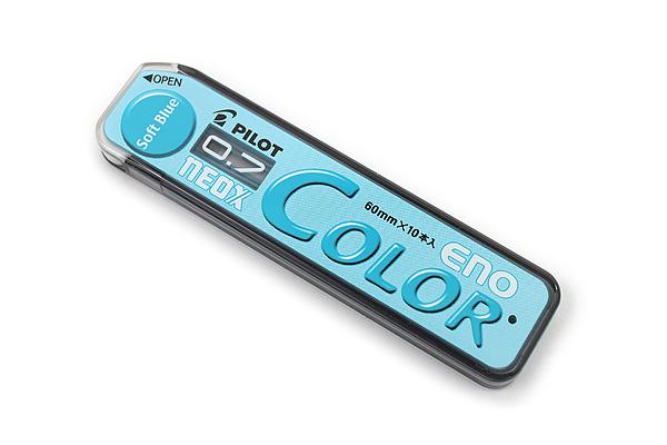 Pilot Color Eno Neox Mechanical Pencil Lead - 0.7 mm - Soft Blue - PILOT HRF7C-20-SL