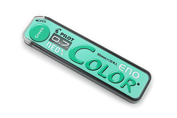 Pilot Color Eno Neox Mechanical Pencil Lead - 0.7 mm - Green - PILOT HRF7C-20-G