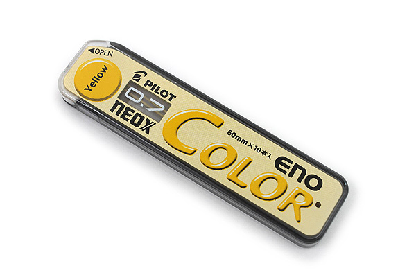 Pilot Color Eno Neox Mechanical Pencil Lead - 0.7 mm - Yellow - PILOT HRF7C-20-Y