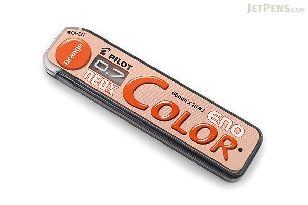 Pilot Color Eno Neox Mechanical Pencil Lead - 0.7 mm - Orange - PILOT HRF7C-20-O