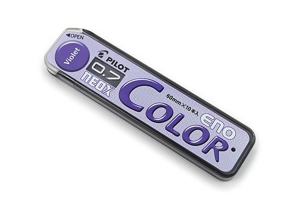 Pilot Color Eno Neox Mechanical Pencil Lead - 0.7 mm - Violet - PILOT HRF7C-20-V
