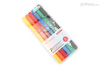 Tombow Play Color 2 Double-Sided Marker - 0.4 mm / 1.2 mm - 6 Color Set - TOMBOW GCB-611