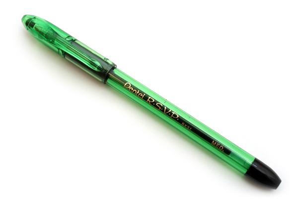 Pentel RSVP Razzle Dazzle Ballpoint Pen - 0.7 mm Medium Point - Electric Green Body - PENTEL BK91RDD-A