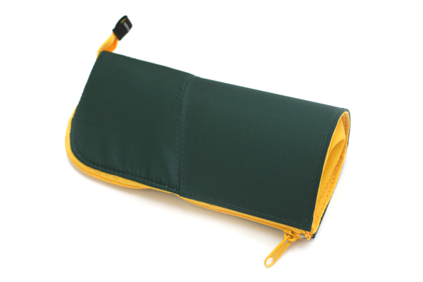 Kokuyo Neo Critz Transformer Pencil Case - Dark Green / Yellow - KOKUYO F-VBF121-3