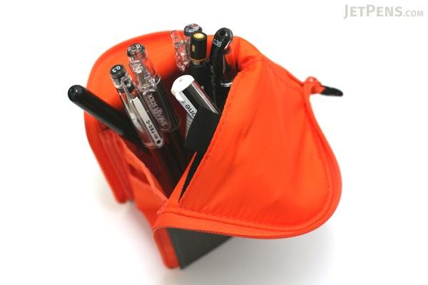 Kokuyo Neo Critz Transformer Pencil Case - Gray / Orange - KOKUYO F-VBF121-2