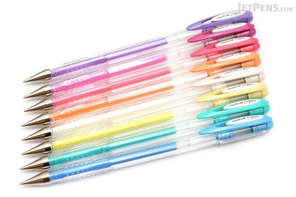 Uni-ball Signo Angelic Color UM-120AC Gel Pen - 0.7 mm - Yellow Ink - UNI UM120AC.2
