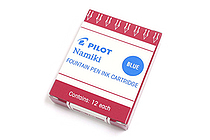 Pilot Namiki Fountain Pen Ink Cartridge - Blue - Pack of 12 - PILOT 69101