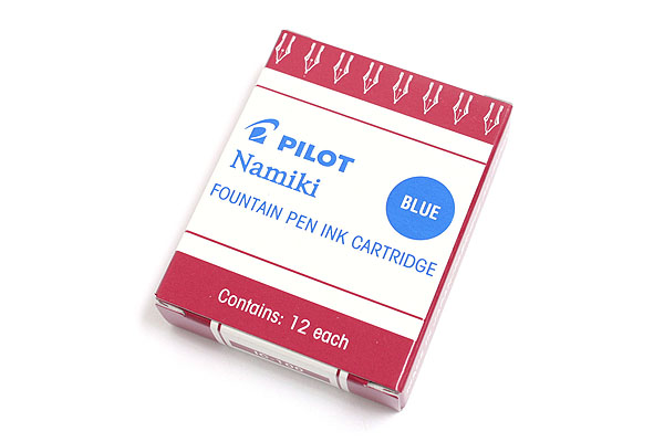 Pilot Namiki Fountain Pen Ink Cartridge - Blue - Pack of 12 - PILOT 69101