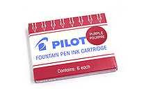 Pilot Namiki Fountain Pen Ink Cartridge - Purple - Pack of 6 - PILOT 69004