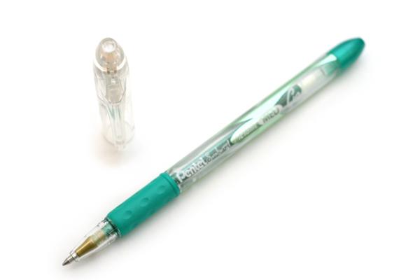 Pentel Sunburst Metallic Gel Ink Pen - 0.7 mm - Green - PENTEL K908M-MD