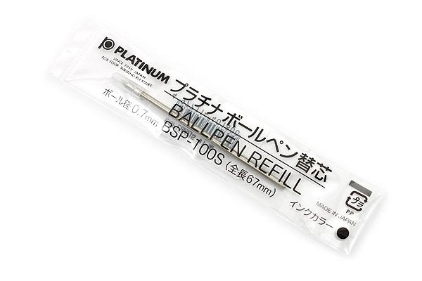 Platinum BSP-100S Ballpoint Pen Refill - D1 - 0.7 mm - Black Ink - PLATINUM BSP-100S 1