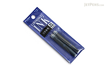 Platinum Blue Black Ink - For Fountain Pen and Marker - 2 Cartridges - PLATINUM SPN-100A 3