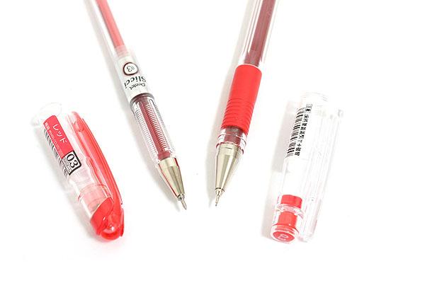 Pentel Slicci Gel Pen - 0.3 mm - Red Ink - PENTEL BG203-B