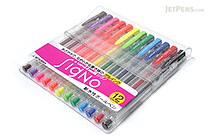 Uni-ball Signo UM-100 Gel Ink Pen - 12 Color Set - UNI UM10012C