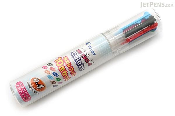 Pilot Hi-Tec-C Coleto Gel Multi Pen Refill - 0.4 mm - 10 Color Set - PILOT LHKRF-1SC4-10C