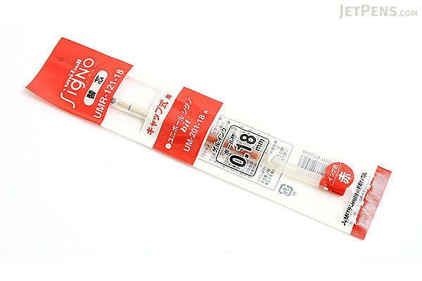 Uni-ball Signo Bit UM-201 Gel Ink Pen Refill - 0.18 mm - Red - UNI UMR12118.15
