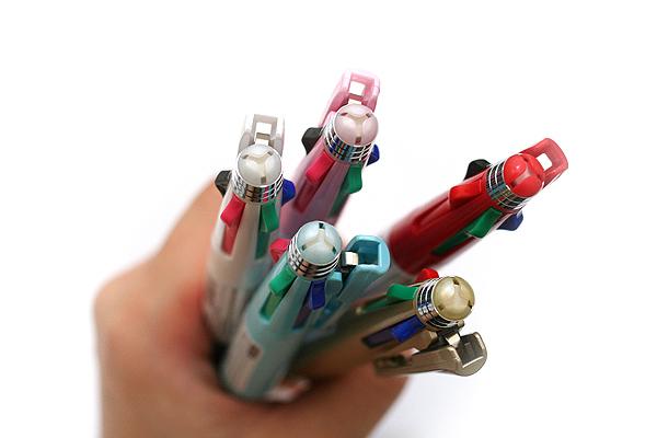 Zebra Clip-On 1000S 4 Color 0.7 mm Ballpoint Multi Pen + 0.5 mm Pencil - Gold Body - ZEBRA B4SA3-GO
