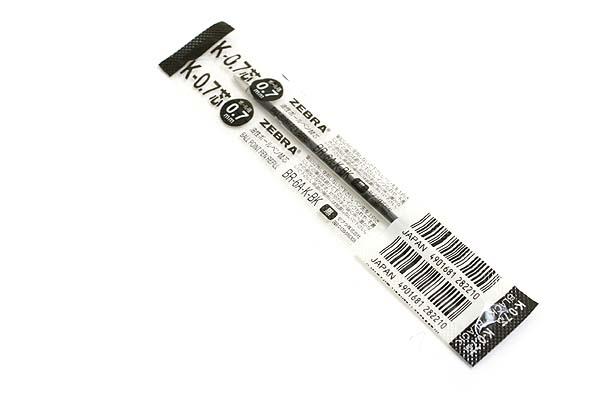 Zebra K-0.7 Ballpoint Pen Refill - 0.7 mm - Black - ZEBRA BR-6A-K-BK